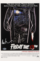 """Ari Lehman Signed """"Friday The 13th"""" 11x17 Movie Poster Print (Beckett COA) at PristineAuction.com"""
