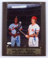 "Rod Carew & Pete Rose Signed LE ""Members Of The Elite 3,000 Hit Club"" 11x13 Plaque (JSA COA & Stacks of Plaques COA) (See Description) at PristineAuction.com"