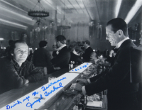 """Joe Turkel Signed """"The Shining"""" 11x14 Photo Inscribed """"Drink Up Mr. Torrence"""" & """"Lloyd"""" (AutographCOA COA) at PristineAuction.com"""