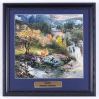 "Thomas Kinkade ""Bambi"" 16x16 Custom Framed Print Display See Description) at PristineAuction.com"