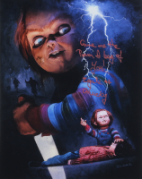 """Ed Gale Signed """"Child's Play"""" 11x14 Photo Inscribed """"Give Me The Power, I Beg Of You!"""" & """"Chucky"""" (AutographCOA COA) at PristineAuction.com"""