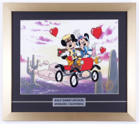 """Walt Disney's """"The Nifty Fifties"""" 16x18 Custom Framed (2) Piece Animation Serigraph Cel With Disney Seal & Mickey Mouse Pin at PristineAuction.com"""