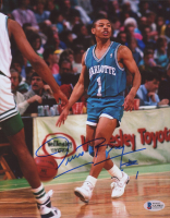 Muggsy Bogues Signed Hornets 8x10 Photo (Beckett COA) at PristineAuction.com