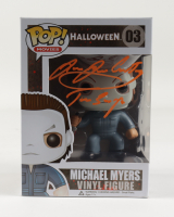 """James Jude Courtney Signed """"Halloween"""" #03 Michael Myers Funko Pop! Vinyl Figure with Inscription (Beckett COA) at PristineAuction.com"""