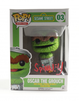 "Caroll Spinney Signed ""Oscar The Grouch"" Sesame Street #03 Funko Pop! Vinyl Figure (Beckett COA) at PristineAuction.com"