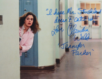 """Claudia Wells Signed """"Back to The Future"""" 11x14 Photo Inscribed """"Love"""" & """"I Hope Mr. Strickland Doesn't Catch Us!"""" (AutographCOA COA) at PristineAuction.com"""