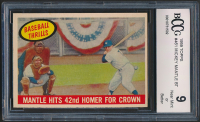 Mickey Mantle 1959 Topps #461 BT / 42nd Homer (BCCG 9) at PristineAuction.com