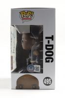 "IronE Singleton Signed ""The Walking Dead"" #495 T-Dog Funko Pop! Vinyl Figure Inscribed ""T-Dog"", ""Truth"" & ""Love"" (Beckett COA) at PristineAuction.com"