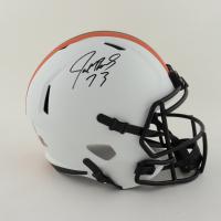 Joe Thomas Signed Browns Full-Size Matte White Speed Helmet (Schwartz COA) (See Description) at PristineAuction.com