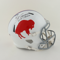 """O.J. Simpson Signed Bills Full-Size Throwback Helmet Inscribed """"The Juice Is Loose"""" (Schwartz Sports COA) at PristineAuction.com"""