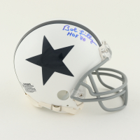 "Bob Lilly Signed Cowboys Throwback Mini Helmet Inscribed ""HOF '80"" (Schwartz Sports COA) at PristineAuction.com"
