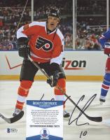 John LeClair Signed Flyers 8x10 Photo (Beckett COA) at PristineAuction.com
