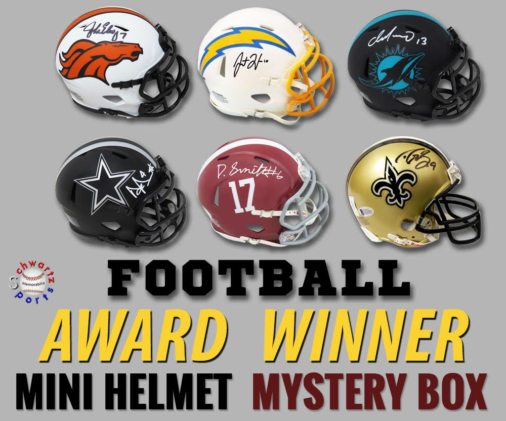 Schwartz Sports Football Award Winner Signed Mini Helmet Mystery Box – Series 4 (Limited to 100) at PristineAuction.com