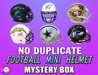 Schwartz Sports NO DUPLICATES Football Mini Helmet Signed Mystery Box - Series 8 (Limited to 75) (75 DIFFERENT PLAYERS IN SERIES!!) at PristineAuction.com