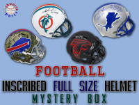 Schwartz Sports INSCRIBED Full-Size Football Helmet Signed Mystery Box - Series 3 (Limited to 150) (EVERY Helmet Is INSCRIBED!!!) at PristineAuction.com