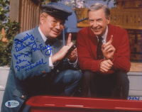 """David Newell Signed """"Mister Rogers' Neighborhood"""" 8x10 Photo Inscribed """"Speedy Delivery From Mr. McFeely"""" (Beckett COA) at PristineAuction.com"""