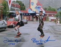 "Darlene Vogel & Ricky Dean Logan Signed ""Back to The Future II"" 11x14 Photo Inscribed ""Data"" & ""Splice"" (AutographCOA COA) at PristineAuction.com"