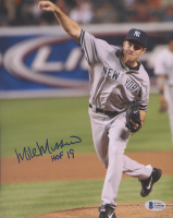"""Mike Mussina Signed Yankees 8x10 Photo Inscribed """"HOF 19"""" (Beckett COA) at PristineAuction.com"""