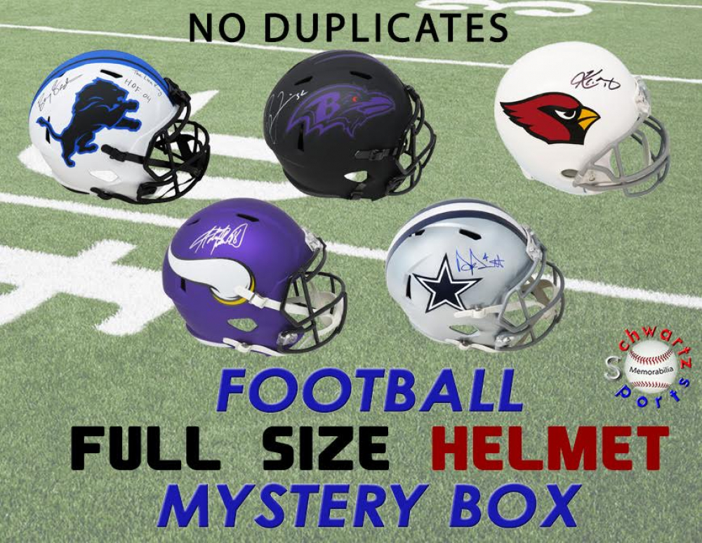 Schwartz Sports NO DUPLICATES Full-Size Football Helmet Signed Mystery Box - Series 4 (Limited to 75) (75 DIFFERENT PLAYERS!!) at PristineAuction.com