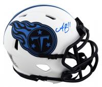 A.J. Brown Signed Titans Lunar Eclipse Alternate Speed Mini-Helmet (Beckett Hologram) at PristineAuction.com