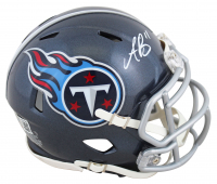 A.J. Brown Signed Titans Speed Mini-Helmet (Beckett Hologram) at PristineAuction.com
