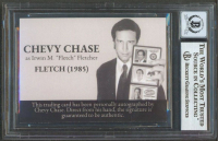"""Chevy Chase Signed """"Fletch"""" Custom Trading Card (BGS Encapsulated) at PristineAuction.com"""