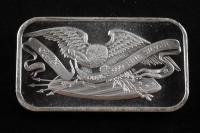 "1 Oz .999 Fine Silver ""Eagle"" Silvertowne Mint Silver Bullion Bar at PristineAuction.com"