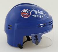 "Bryan Trottier Signed Islanders Mini Helmet Inscribed ""HOF '97"" (Schwartz Sports COA) at PristineAuction.com"