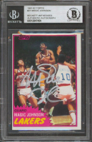 Magic Johnson Signed 1981-82 Topps #21 (BGS Encapsulated) at PristineAuction.com