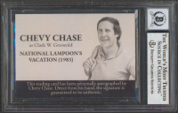"""Chevy Chase Signed """"National Lampoon's: Vacation"""" Custom Trading Card (BGS Encapsulated) at PristineAuction.com"""