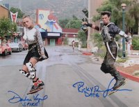 """Darlene Vogel & Ricky Dean Logan Signed """"Back to The Future II"""" 11x14 Photo Inscribed """"Data"""" & """"Spike"""" (AutographCOA COA) at PristineAuction.com"""