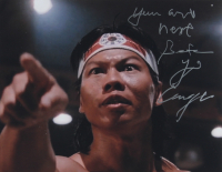 """Bolo Yeung Signed """"Bloodsport"""" 11x14 Photo Inscribed """"You Are Next"""" & """"Chong Li"""" (AutographCOA COA) at PristineAuction.com"""