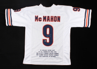 Jim McMahon Signed Career Highlight Stat Jersey (Beckett COA) at PristineAuction.com