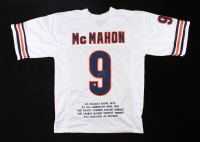Jim McMahon Signed Career Highlight Stat Jersey (Beckett COA) (See Description) at PristineAuction.com