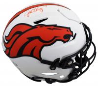 John Elway Signed Broncos Full-Size Authentic On-Field Lunar Eclipse Alternate SpeedFlex Helmet (Beckett Hologram) at PristineAuction.com