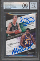Magic Johnson & Larry Bird Signed 2012-13 Prestige Connections #25 (BGS Encapsulated) at PristineAuction.com