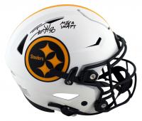 "T.J. Watt Signed Steelers Full-Size Authentic On-Field Lunar Eclipse Alternate SpeedFlex Helmet Inscribed ""Mega Watt"" (Beckett Hologram) at PristineAuction.com"