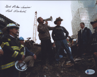 """Bob Beckwith Signed 9/11 8x10 Photo Inscribed """"God Bless America"""" (Beckett COA) at PristineAuction.com"""