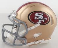 Raheem Mostert Signed 49ers Speed Mini Helmet (Fanatics Hologram) at PristineAuction.com