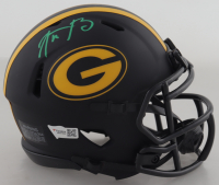 Aaron Rodgers Signed Packers Eclispe Alternate Speed Mini-Helmet (Fanatics Hologram) at PristineAuction.com