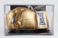 Mike Tyson Signed Everlast Boxing Glove With Photo Display Case (PSA COA) at PristineAuction.com