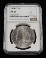 1884-O Morgan Silver Dollar (NGC MS 63) at PristineAuction.com