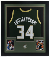 Giannis Antetokounmpo Signed 31x35 Custom Framed Jersey Display (JSA COA) at PristineAuction.com