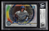 Bobby Witt Jr. Signed 2020 Bowman Chrome Scouts Top 100 #BTP25 (BGS Encapsulated) at PristineAuction.com
