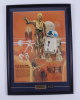 """Vintage """"1977 """"Star Wars"""" Coca Cola  22x30 Custom Framed Print Display with Official Movie Pin (See Description) at PristineAuction.com"""