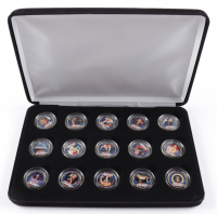 Donald Trump Commemorative Coin Set with (15) Coins & Display Case at PristineAuction.com