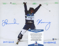 "Hannah Kearney Signed Team USA 8x10 Photo Inscribed ""2010 Gold, 2014 Bronze"" (Beckett COA) at PristineAuction.com"