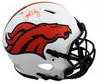 John Elway Signed Broncos Full-Size Authentic On-Field Lunar Eclipse Alternate Speed Helmet (Beckett Hologram) at PristineAuction.com