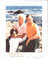 """George H. W. Bush & Barbara Bush Signed 8x10 Photo Inscribed """"With Best Wishes"""" (JSA COA) at PristineAuction.com"""