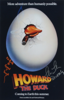 """Ed Gale & Lea Thompson Signed """"Howard the Duck"""" 12x18 Photo Inscribed """"Howard T. Duck"""" & """"Beverly"""" (AutographCOA Hologram) at PristineAuction.com"""